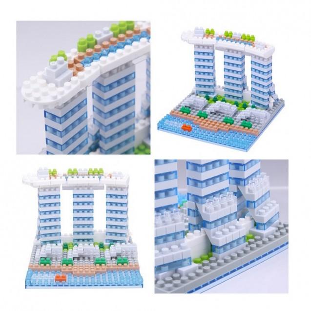 NBH-123 nanoblock MARINA BAY SANDS-新加坡濱海灣金沙酒店