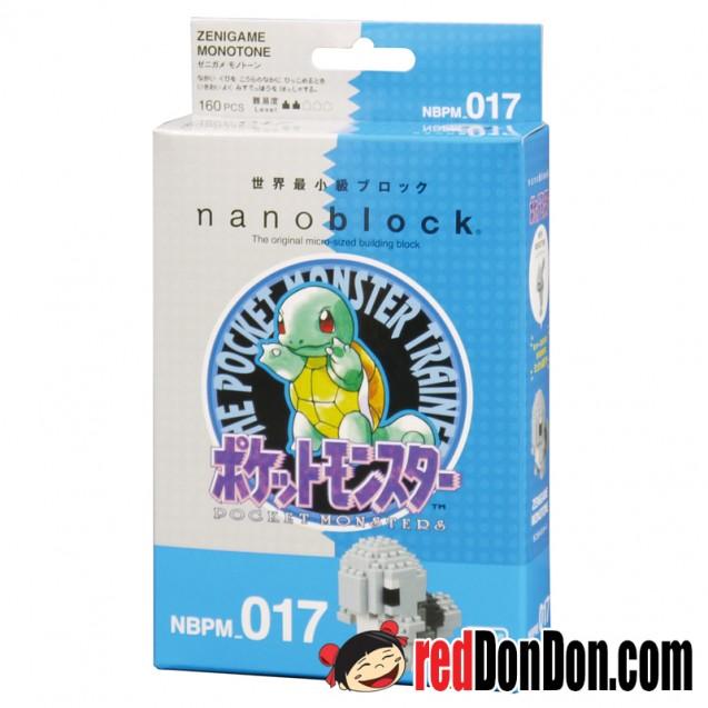 NBPM-017 Pokémon 傑尼龜復刻珍藏版 ZENIGAME MONOTONE nanoblock